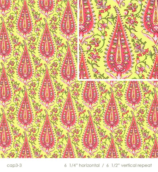 Amy Butler - Love - Cypress Paisley - Lime - 1/3 Yd; 12 inches