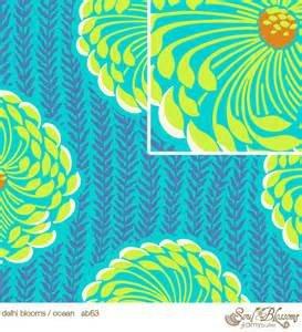 Amy Butler - Soul Blossoms - Delhi Blooms - Ocean