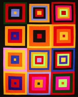 Colorful Kona Squares Quilt Kit