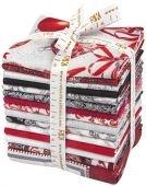 Fat Quarter Bundle - Holiday Flourish - Silver