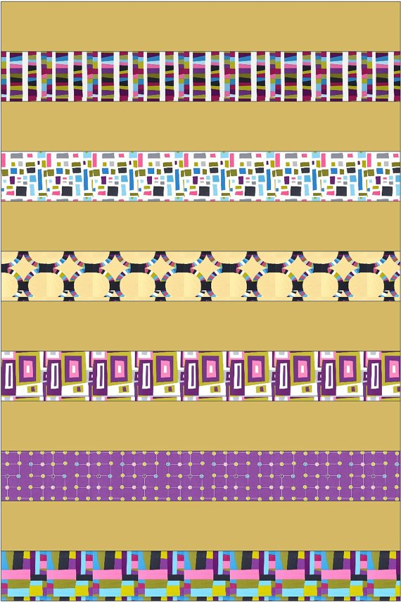 Modern Strip Quilt Kit - Finished Size 40 x 60 - Fast & Easy!
