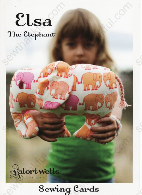 Sewing Cards - Elsa The Elephant by Valori Wells