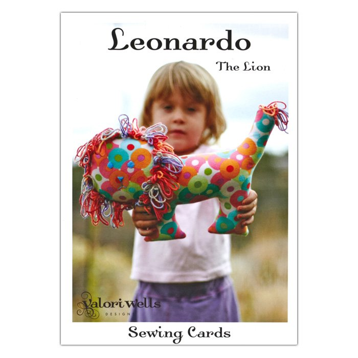 Sewing Cards - Leonardo The Lion by Valori Wells