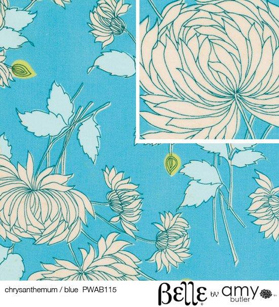 Amy Butler - Belle - Chrysanthemum - Blue