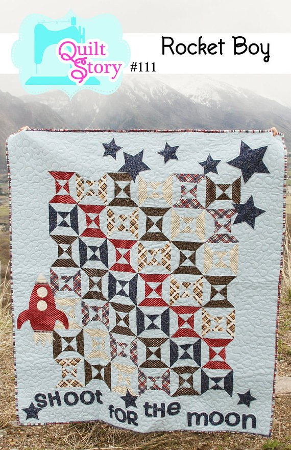Rocket Boy Quilt Pattern by Quilt Story