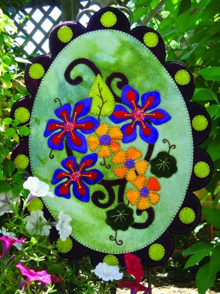 Sweet Season Wool Applique Penny Rug Pattern