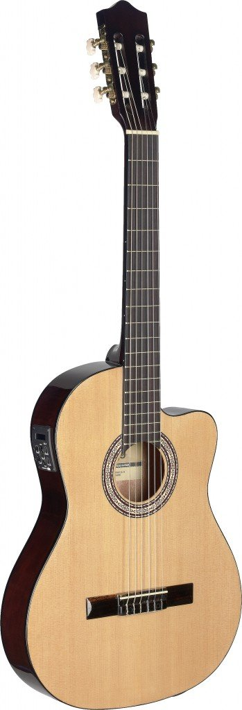 STAGG C546TCE-N CLASSICAL GUITAR AE CA THIN BODY NATURAL