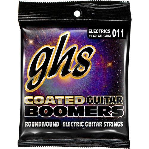 GHS COATED BOOMERS CB-GBM EL GUITAR STRINGS MEDIUM .011