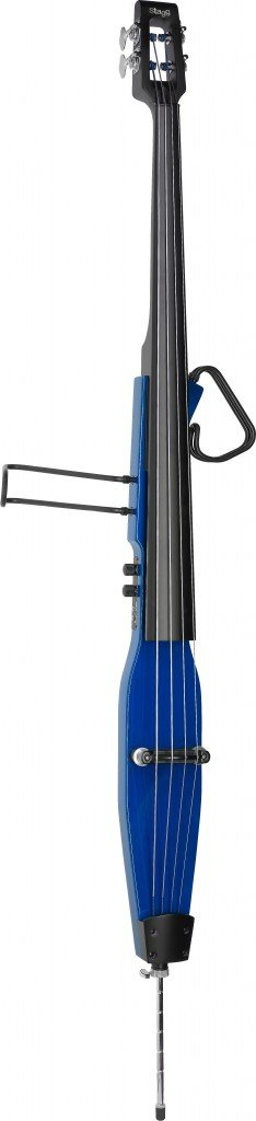 STAGG EDB-3/4 TB ELECTRIC UPRIGHT BASS W/GIGBAG TRANSPARENT BLUE