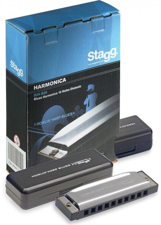STAGG BJH-B20 B HARMONICA HOWLIN' HARP BLUES KEY OF B