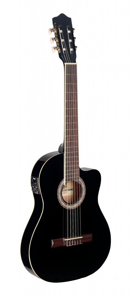 STAGG C546TCE-BK CLASSICAL GUITAR AE CA THIN BODY BLACK