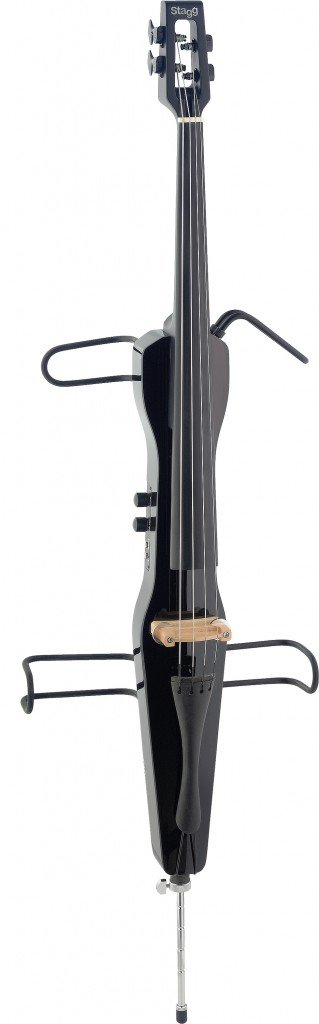 STAGG ECL 4/4 BK ELECTRIC CELLO 4/4 SIZE W/HEADPHONES (BLACK)