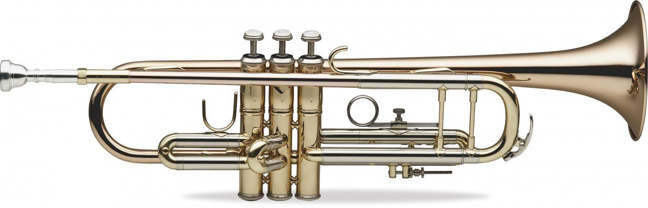 LEVANTE LV-TR6305 PROFESSIONAL Bb TRUMPET, BELL AND LEADPIPE IN GOLD BRASS