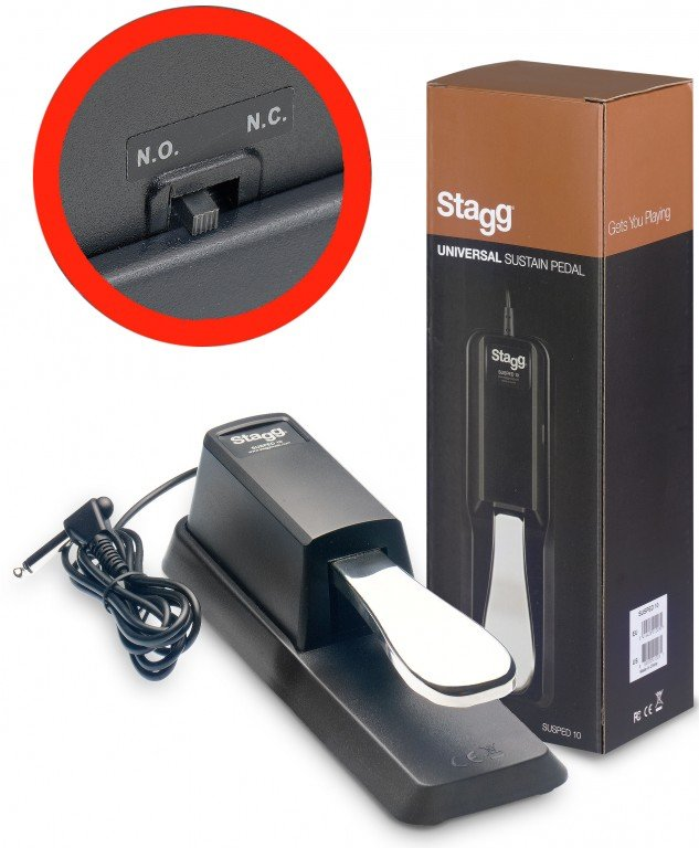 STAGG SUSPED 10 SUSTAIN PEDAL W/POLARITY SWITCH (PIANO STYLE)