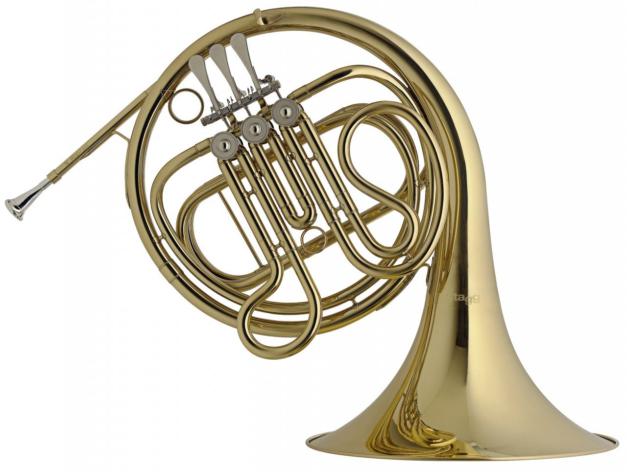 STAGG WS-HR245 F FRENCH HORN 3 ROTARY VALVES W/CASE