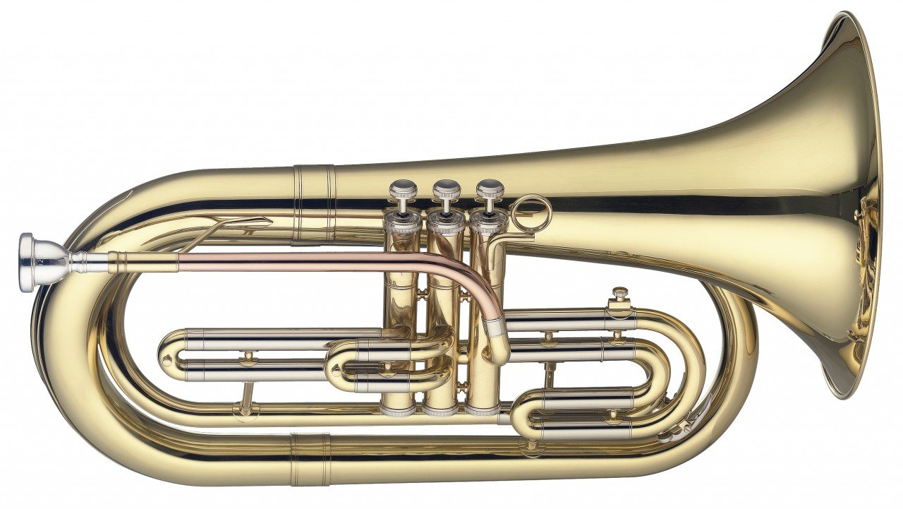 LEVANTE LV-MB5505 Bb MARCHING BARITONE, 3 PISTONS IN STAINLESS STEEL