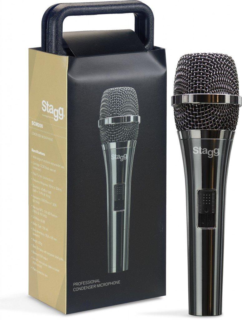 STAGG SCM200 MICROPHONE VOCAL CONDENSER HANDHELD BLACK