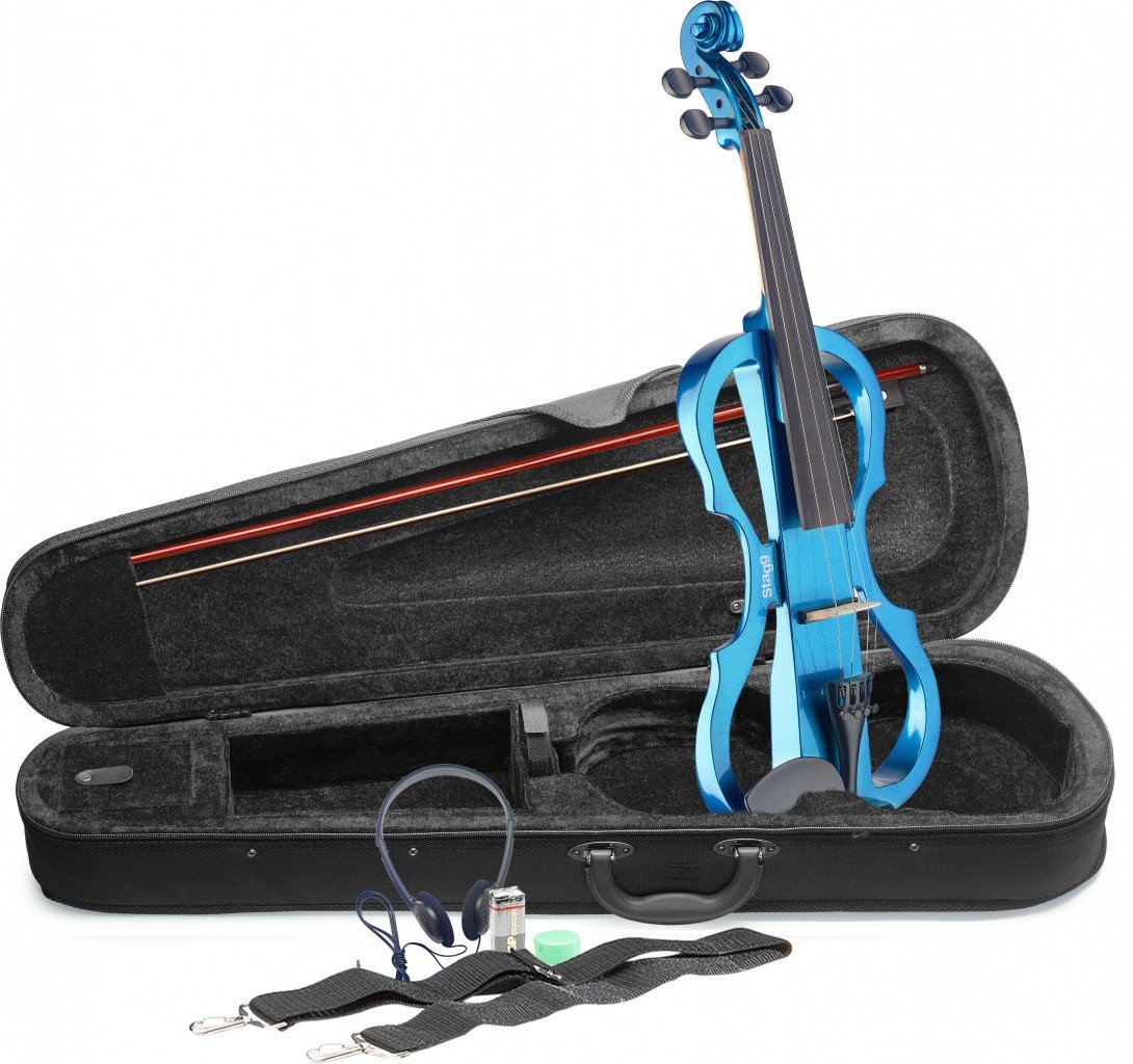 STAGG EVN X-4/4 MBL ELECTRIC VIOLIN 4/4 SIZE W/HEADPHONES METALLIC BLUE