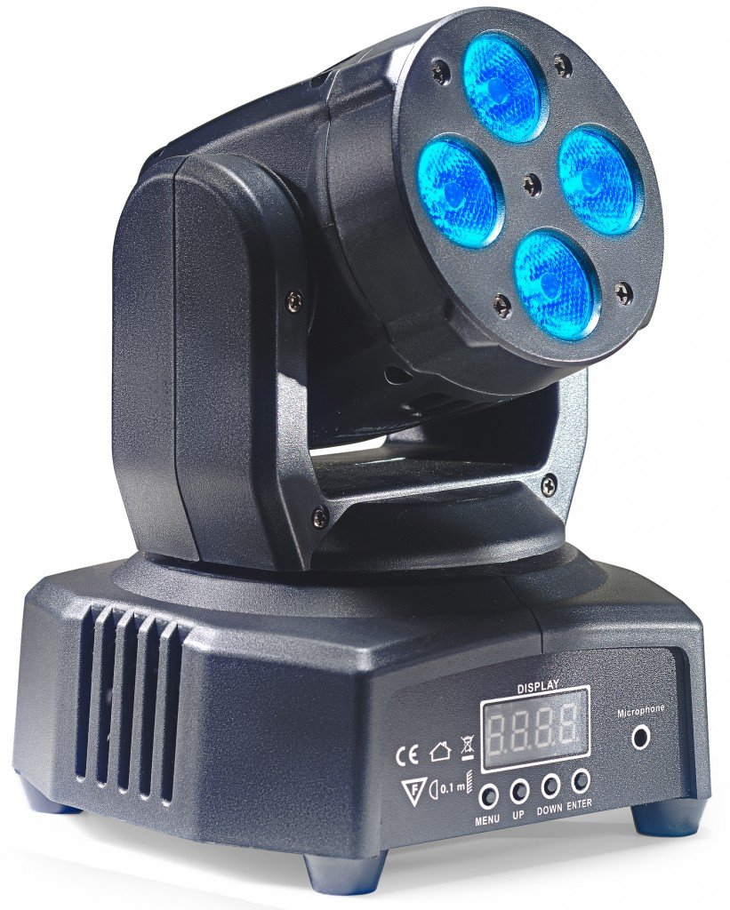 STAGG SLI MHW HB8-1 HEADBANGER 8 MOVING HEAD LIGHT 4x10W R/G/B LED DMX (RGBW)