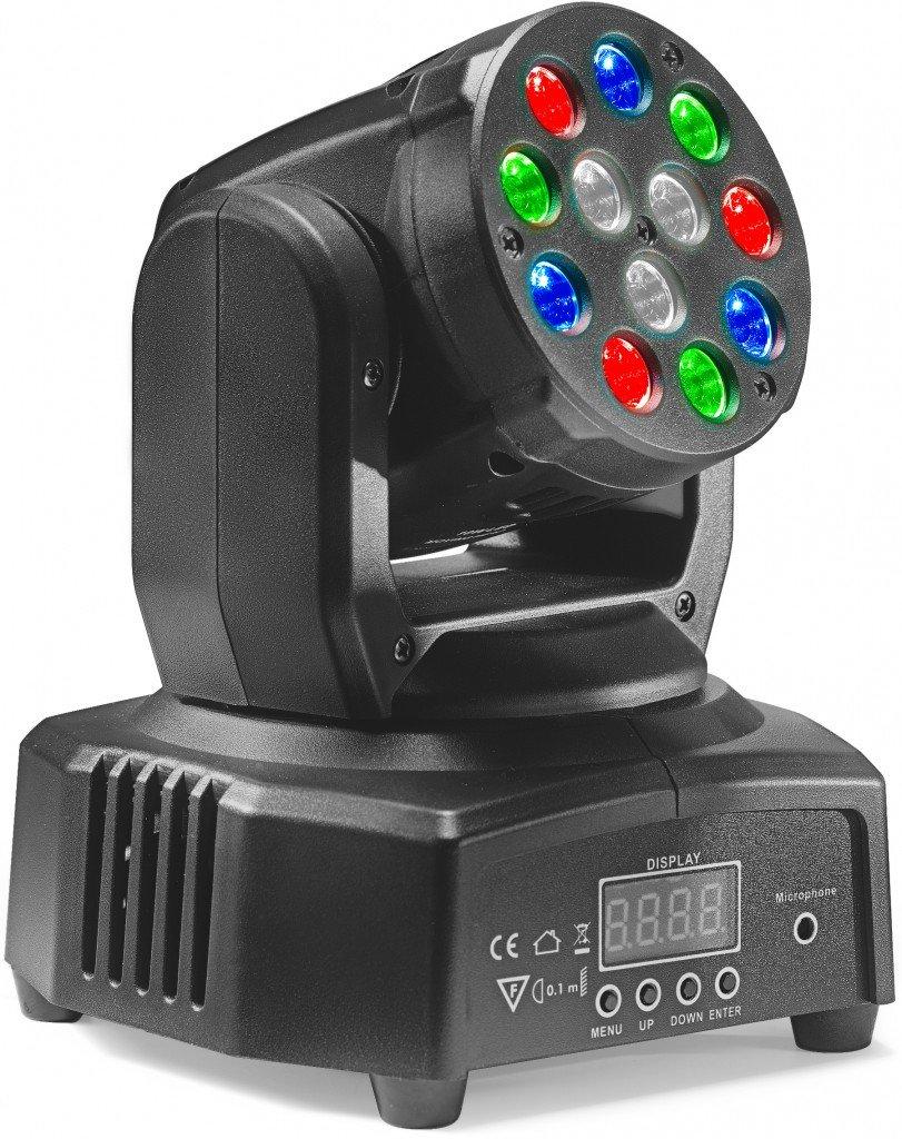 STAGG SLI MHB HB6-1 HEADBANGER 6 MOVING HEAD LIGHT 12x3W R/G/B LED DMX (RGBW)