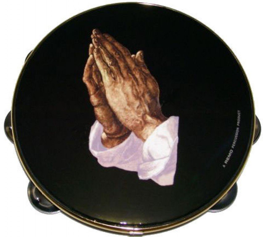 REMO TA-9108-14 TAMBOURINE PRAYING HANDS 8 SINGLE ROW