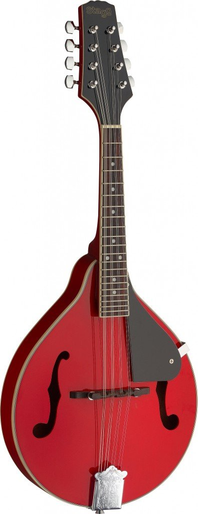 STAGG M20 RED MANDOLIN BLUEGRASS RED