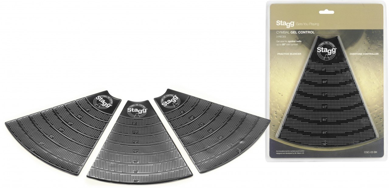 STAGG CGC-03 BK CYMBAL GEL CONTROL DAMPER PACK (3 PACK)