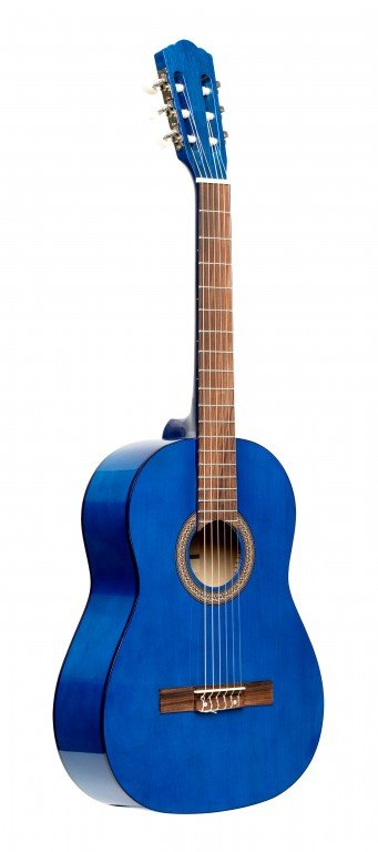 STAGG SCL50-BLUE 4/4 CLASSICAL GUITAR WITH LINDEN TOP, BLUE