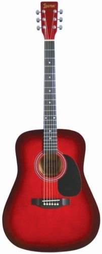 LAUREN DREADNOUGHT GUITAR 4/4 SIZE RED BURST
