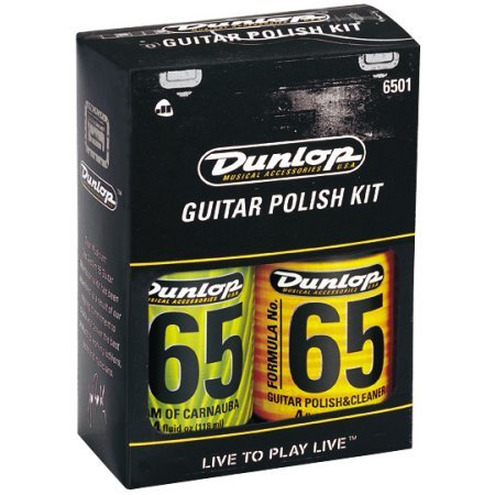 DUNLOP 6501 FORMULA 65 WOOD GUITAR POLISH KIT W/CLOTH