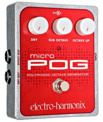 ELECTRO-HARMONIX MICRO POG POLYPHONIC OCTAVE GENERATOR 9.6DC-200 PSU INCLUDED