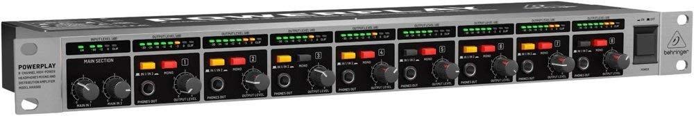 BEHRINGER HA8000 V2 8-CHANNEL HIGH POWER HEADPHONES MIXING & DISTROBUTION AMPLIFIER