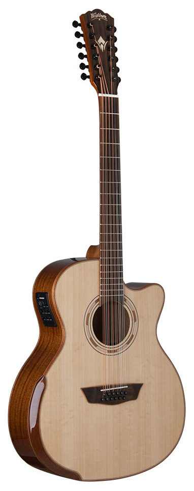 WASHBURN WCG15SCE12-O COMFORT DELUXE SERIES 12 STRING GRAND AUDITORIUM ACOUSTIC ELECTIC GRAND GUITAR.