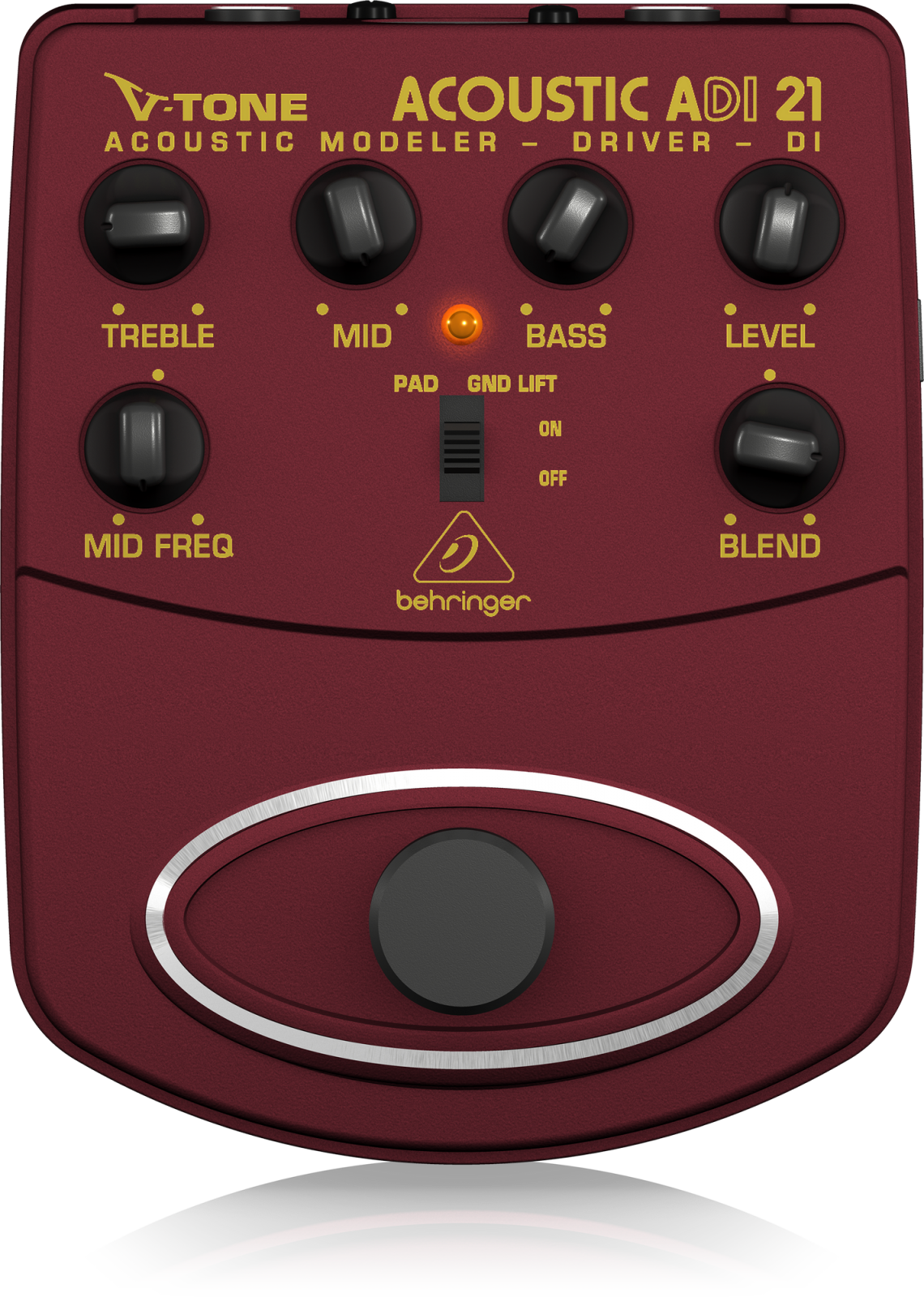 BEHRINGER ADI21 ACOUSTIC AMP MODELER / DIRECT RECORDING PREAMP/DI BOX