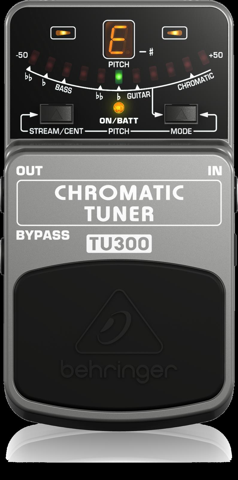 BEHRINGER PEDAL TU300  CHROMATIC GUITAR/BASS TUNER