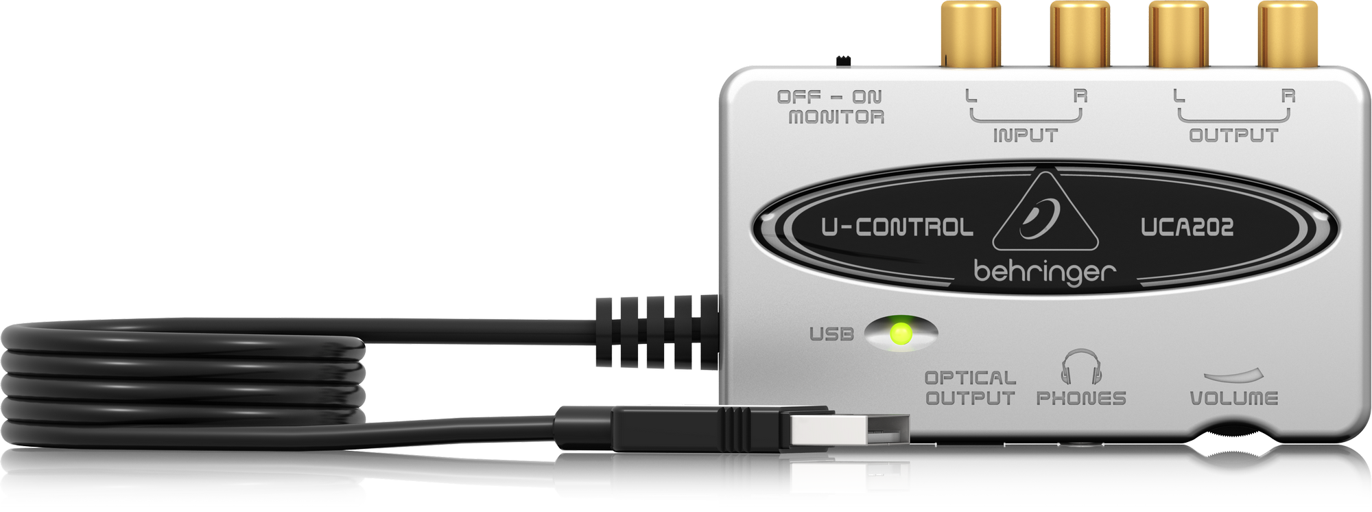 BEHRINGER UCA202 ULTRA LOW-LATENCY 2 IN/2 OUT USB/AUDIO INTERFACE WITH DIGITAL OUTPUT