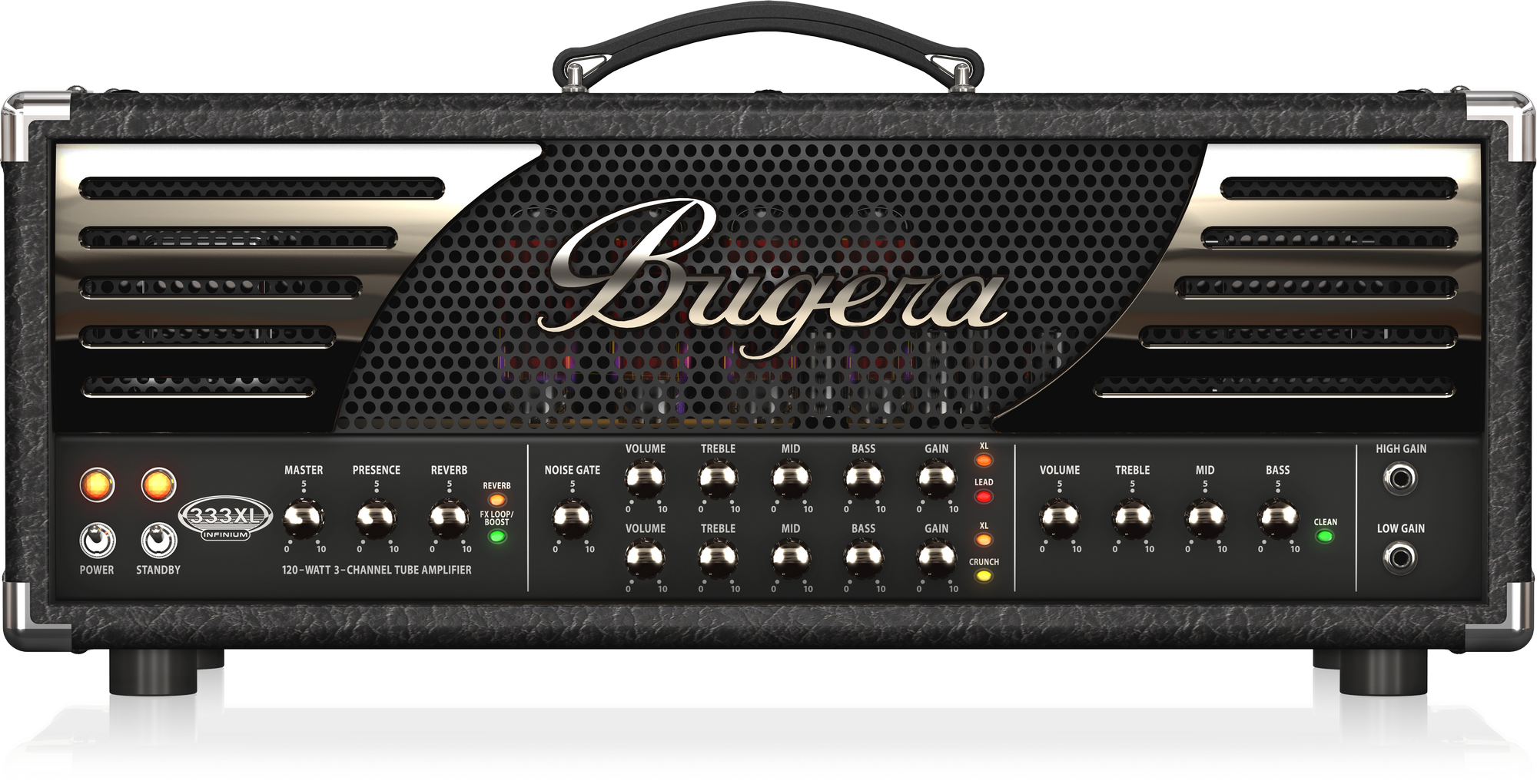 BUGERA 333XL INFINIUM HARDCORE 3 CHANNEL TUBE GUITAR AMPLIFIER HEAD 120 WATTS