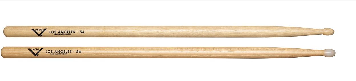 VATER VH5AN DRUMSTICKS LOS ANGELES HICKORY 5A NYLON TIP