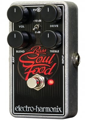 ELECTRO-HARMONIX BASS SOUL FOOD TRANSPARENT OVERDRIVE 9.6DC-200 PSU INCLUDED