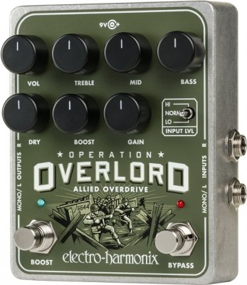 ELECTRO-HARMONIX OPERATION OVERLORD OVERDRIVE 9.6DC-200 PSU INCLUDED