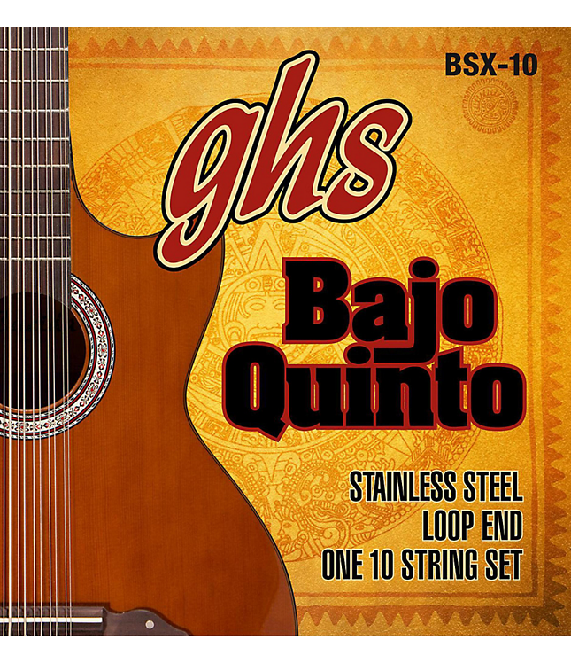 GHS BAJO QUINTO STRINGS BSX-10 STAINLESS STEEL 10-STRING