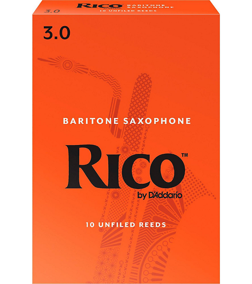 RICO BARI SAX REED SIZE #3 (10 PACK)