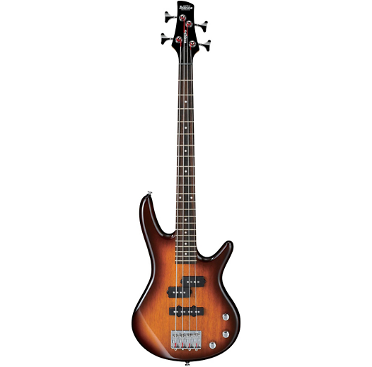 IBANEZ GSRM20BS GIO SR MIKRO SHORT SCALE 4 STRING ELECTRIC BASS - BROWN SUNBURST HIGH GLOSS