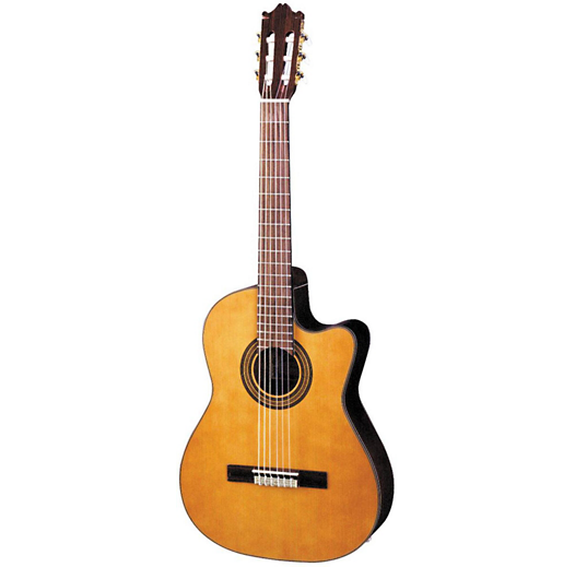 IBANEZ GA6CE ACOUSTIC ELECTRIC CLASSICAL GUITAR - AMBER HIGH GLOSS