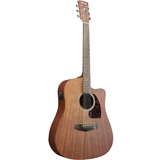 IBANEZ PF12MHCEOPN PERFORMANCE ACOUSTIC ELECTRIC DREADNOUGHT GUITAR - OPEN PORE NATURAL
