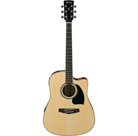 IBANEZ PF15ECENT PERFORMANCE ACOUSTIC DREADNOUGHT ELECTRIC GUITAR - NATURAL HIGH GLOSS