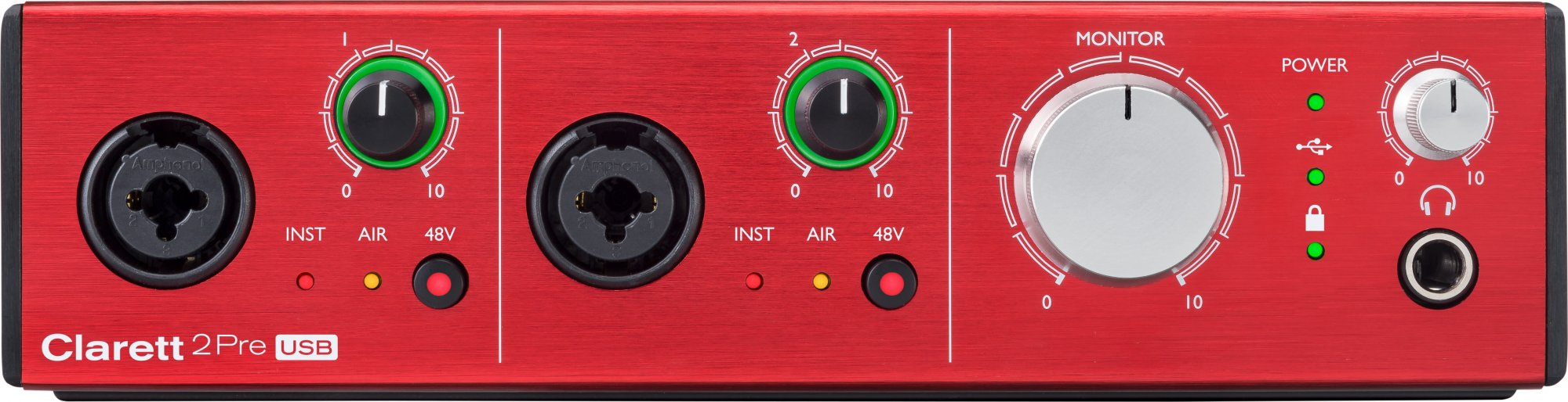FOCUSRITE CLARETT 2PRE USB AUDIO INTERFACE 10 IN, 4 OUT FOR PC & MAC