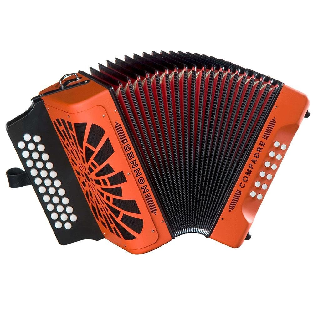 HOHNER COGO COMPADRE BUTTON ACCORDION ORANGE SOL