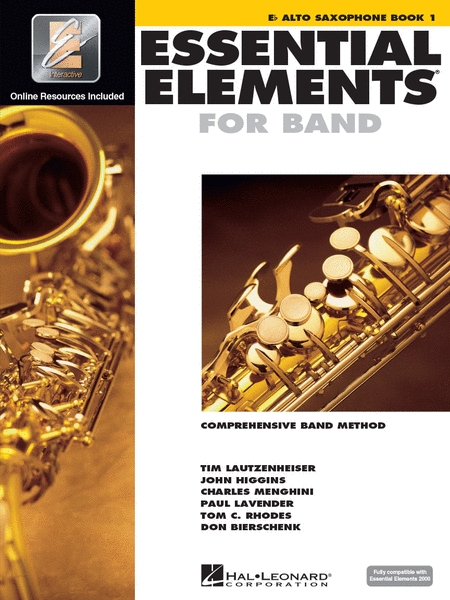 BK:ESSENTIAL ELEMENTS FOR BAND ALTO SAX BOOK 1 W/ONLINE RESOURCES (HL00862572)