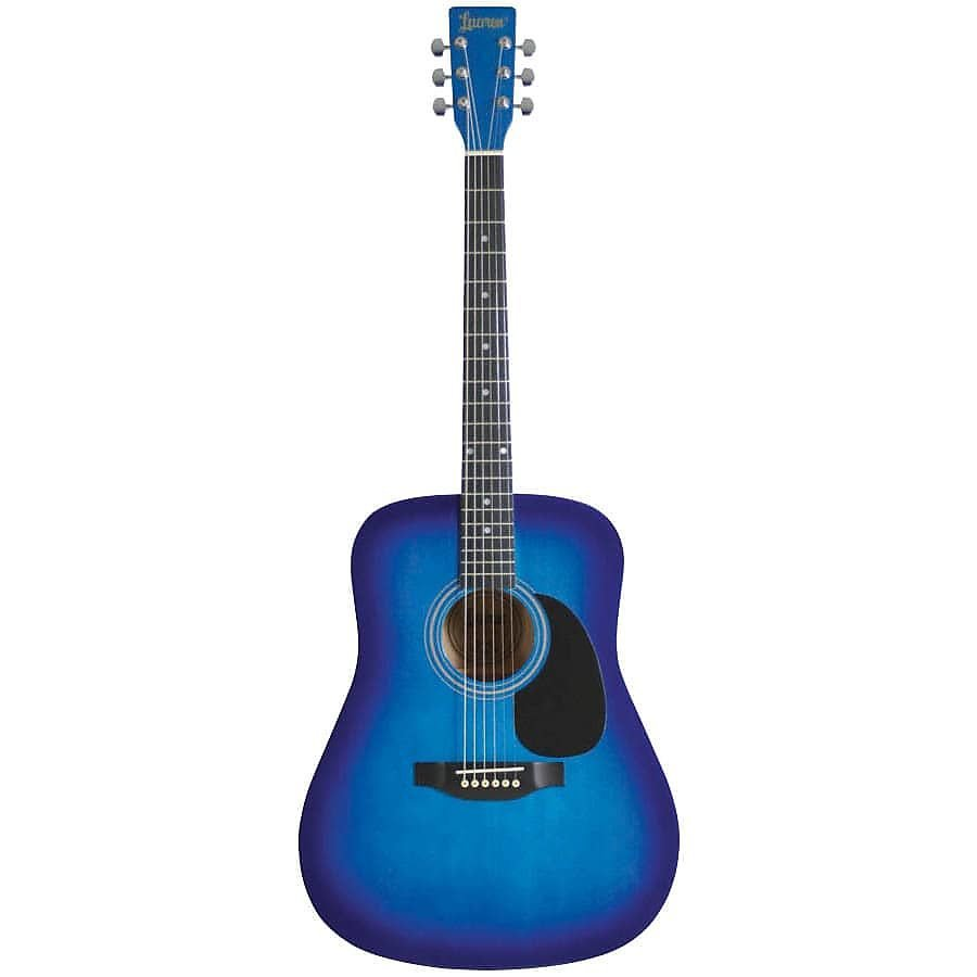 LAUREN DREADNOUGHT GUITAR 4/4 SIZE BLUE BURST